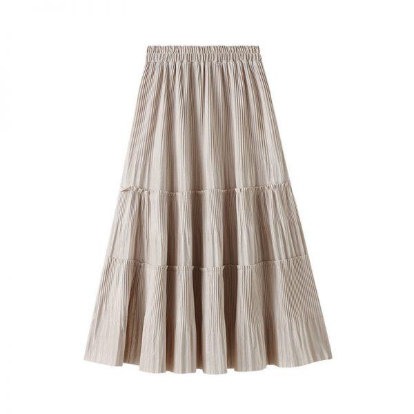 Harajuku Vintage Long Velvet Pleated Skirts 5