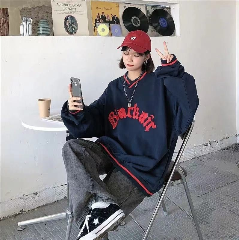 E-boy E-girl Punk Gothic Harajuku V-neck sweatshirt 45