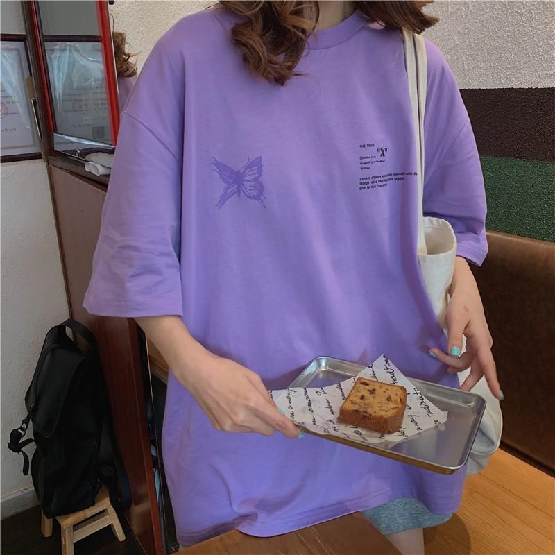 Harajuku E-girl E-boy Butterfly Print Loose T-shirt 41