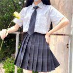 Harajuku E-girl Soft girl Pleated A-Line Plaid Skirts 3