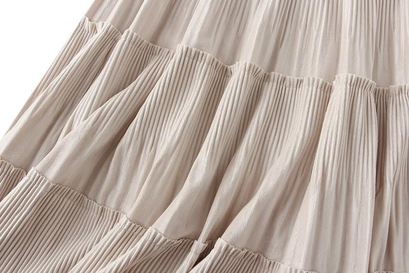 Harajuku Vintage Long Velvet Pleated Skirts 47