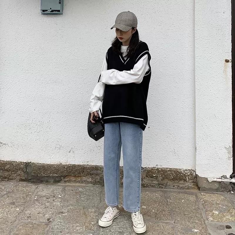 Harajuku Grunge E-girl  V-neck Knitted Vest 42