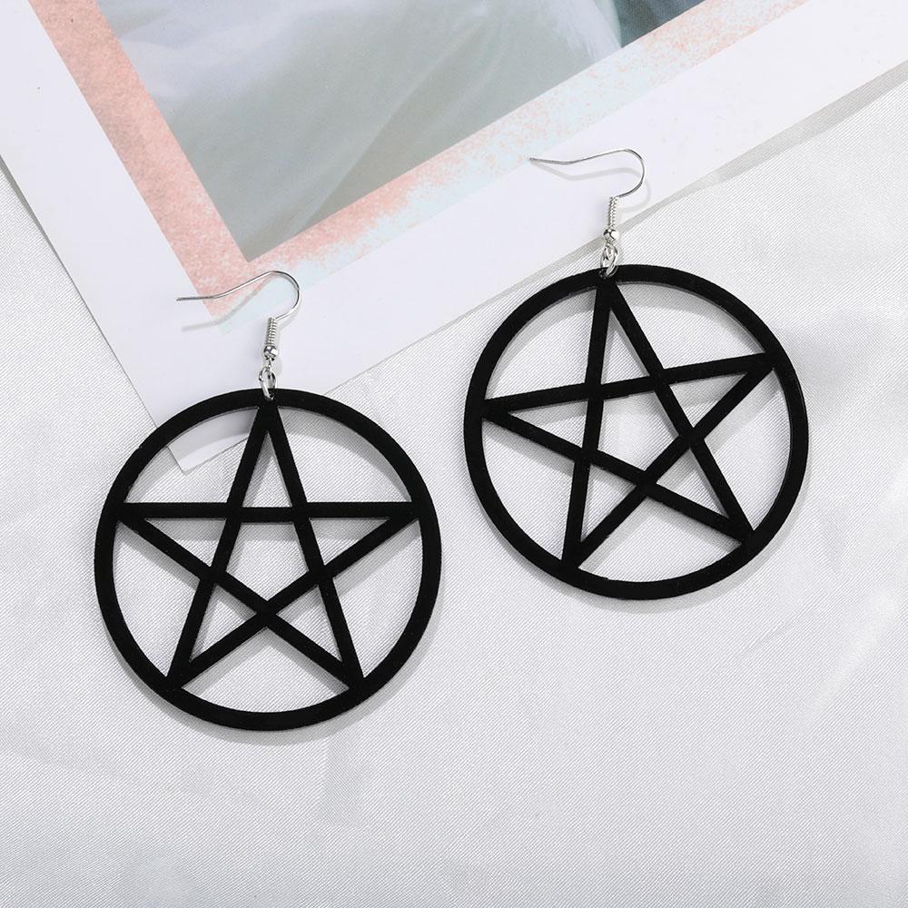 Egirl Eboy Gothic Punk Acrylic Large Star Earrings 42