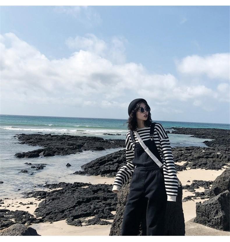 Harajuku E-girl Grunge striped cotton Sweatshirt 51