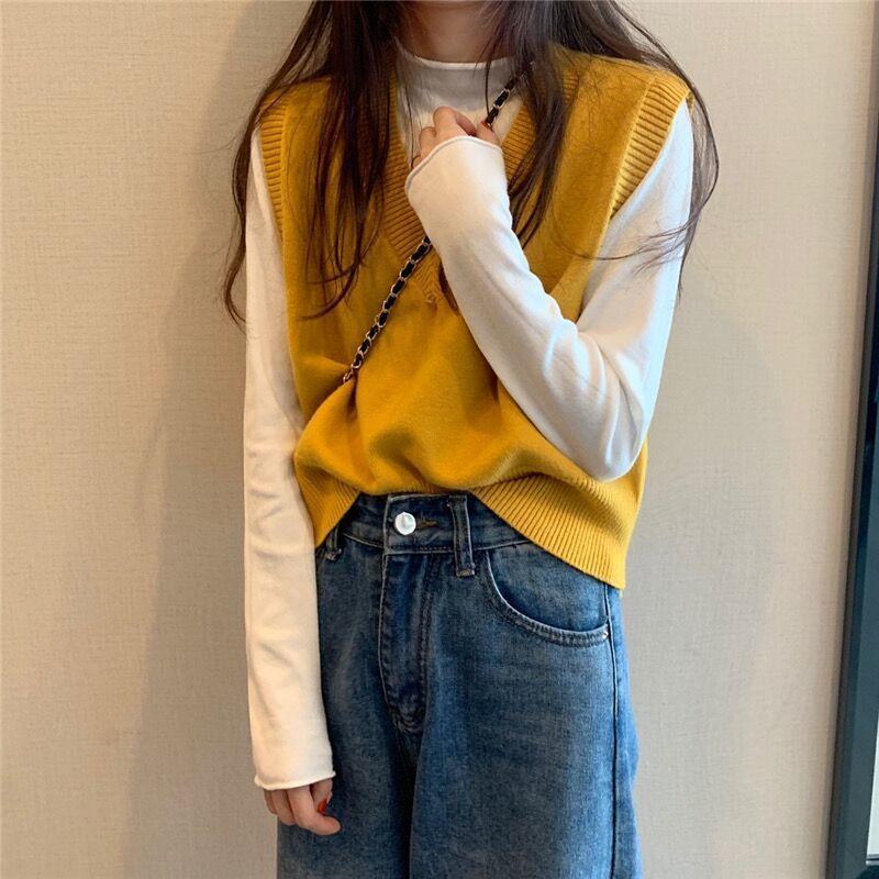 Soft Girl E-girl Harajuku Knitted V-Neck Sleeveless Vest 51