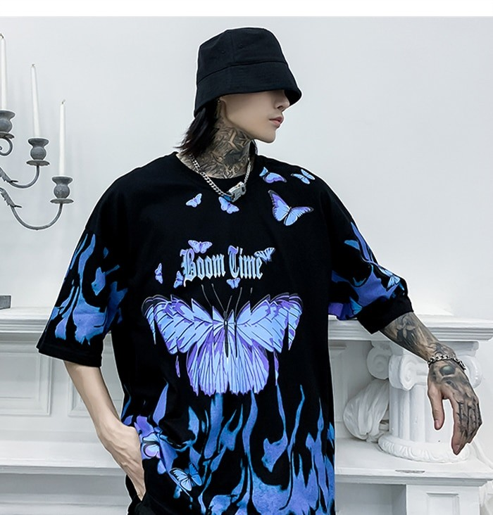 E-boy E-girl Harajuku Punk Butterfly T-Shirt 42
