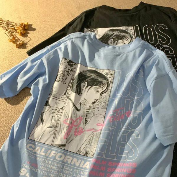 E-girl Harajuku Anime print T-shirt Los Angeles 5
