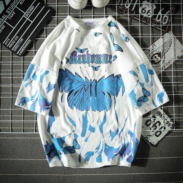 E-boy E-girl Harajuku Punk Butterfly T-Shirt 4