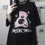 E-girl E-boy Gothic Punk Harajuku T-Shirt with Bear Printing 1