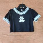 E-girl Gothic Y2K Crop Top with Bear Print 6