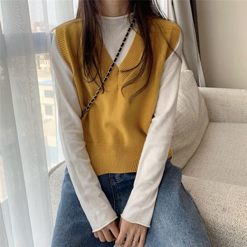 Soft Girl E-girl Harajuku Knitted V-Neck Sleeveless Vest 43