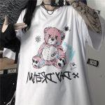 E-girl E-boy Gothic Punk Harajuku T-Shirt with Bear Printing 3