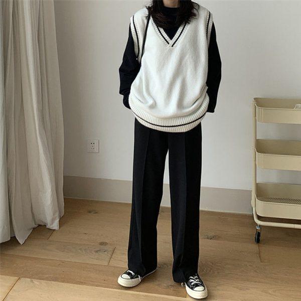 Harajuku Grunge E-girl  V-neck Knitted Vest 3