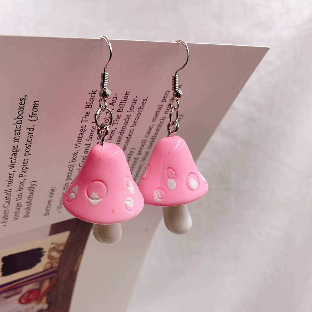 E-girl Y2K Indie Kid Acrylic Mushroom Long Pendant Earrings 45