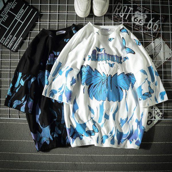 E-boy E-girl Harajuku Punk Butterfly T-Shirt 7