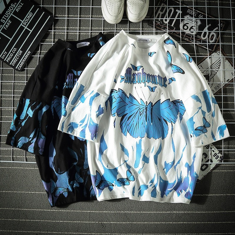 E-boy E-girl Harajuku Punk Butterfly T-Shirt 41