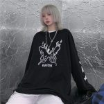 E-girl Gothic Punk Harajuku T-shirt with butterflies print 5