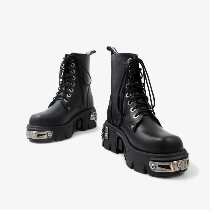Egirl Punk Style Platform Chunky Shoes with Metal Decor 50