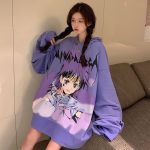E-girl E-boy Harajuku Anime Cute Girl Oversized Hooded Sweatshirt 2