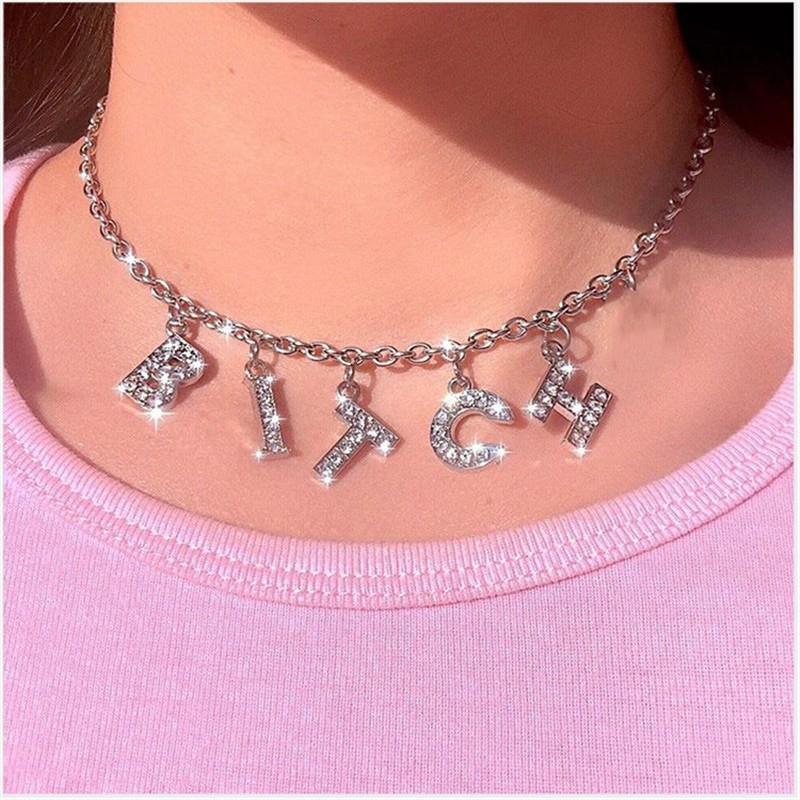 E-girl Y2K Soft girl Letter Necklace 42