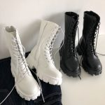 E-girl Gothic Punk Mid Calf Boots 1