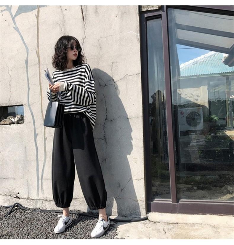 Harajuku E-girl Grunge striped cotton Sweatshirt 54