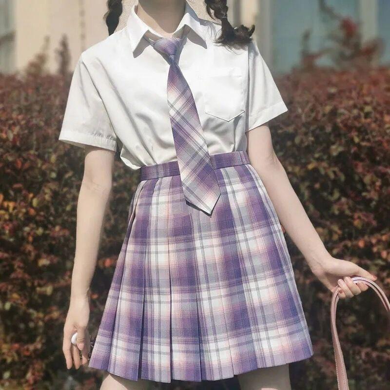 Harajuku E-girl Soft girl Pleated A-Line Plaid Skirts 58