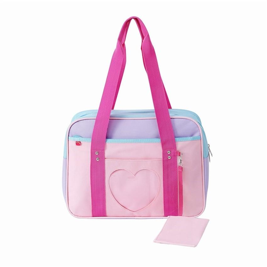Soft Girl Egirl Harajuku Canvas Large Handbags 52
