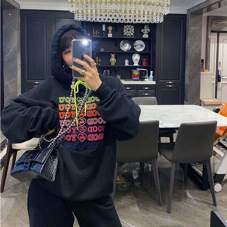 E-girl Soft girl oversized Harajuku hoodie with Good for You embroidery 47