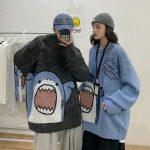 Harajuku E-boy E-girl Turtlenecks Oversized Shark Sweater 5