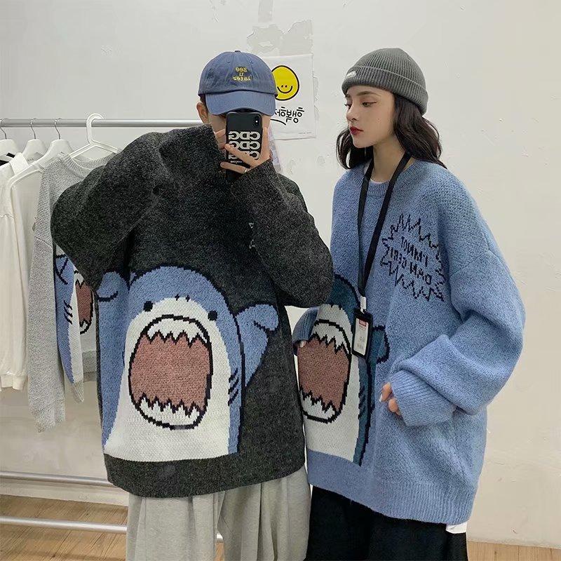Harajuku E-boy E-girl Turtlenecks Oversized Shark Sweater 45