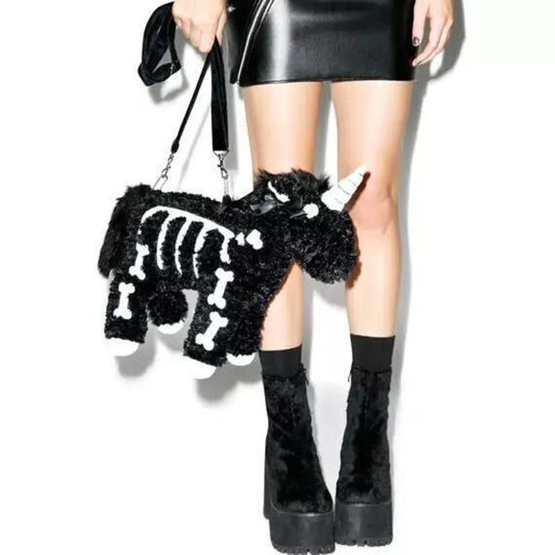 Punk unicorn Skeleton Crossbody Bag 47