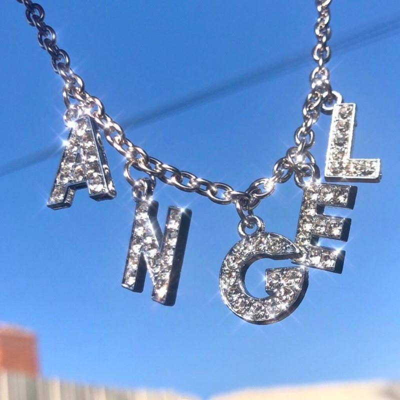 E-girl Y2K Soft girl Letter Necklace 41