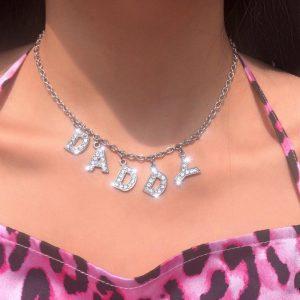 E-girl Y2K Soft girl Letter Necklace 1
