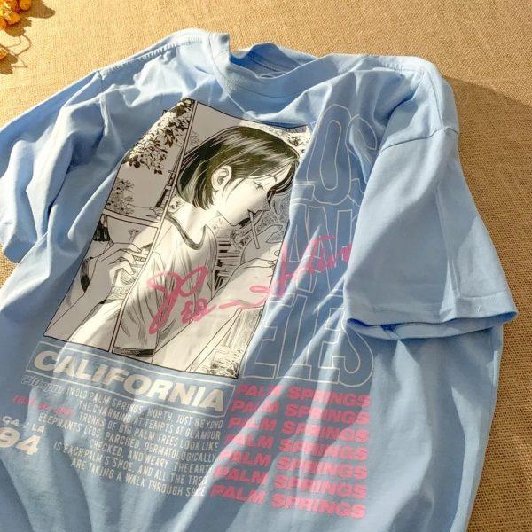 E-girl Harajuku Anime print T-shirt Los Angeles 1