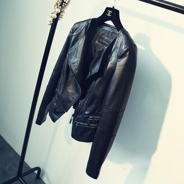 Punk Egirl Motorcycle PU Leather Jacket 43