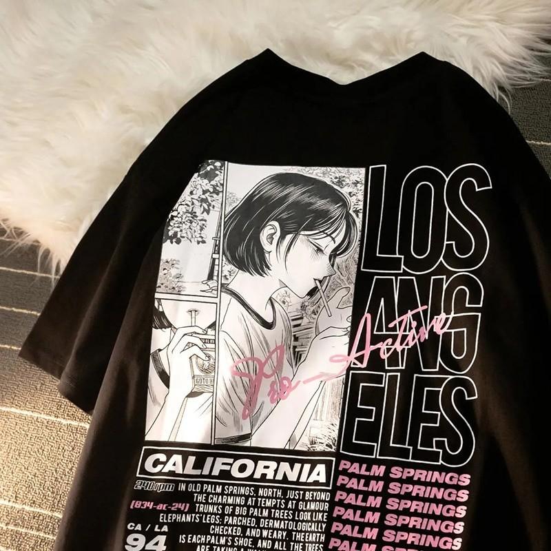 E-girl Harajuku Anime print T-shirt Los Angeles 42