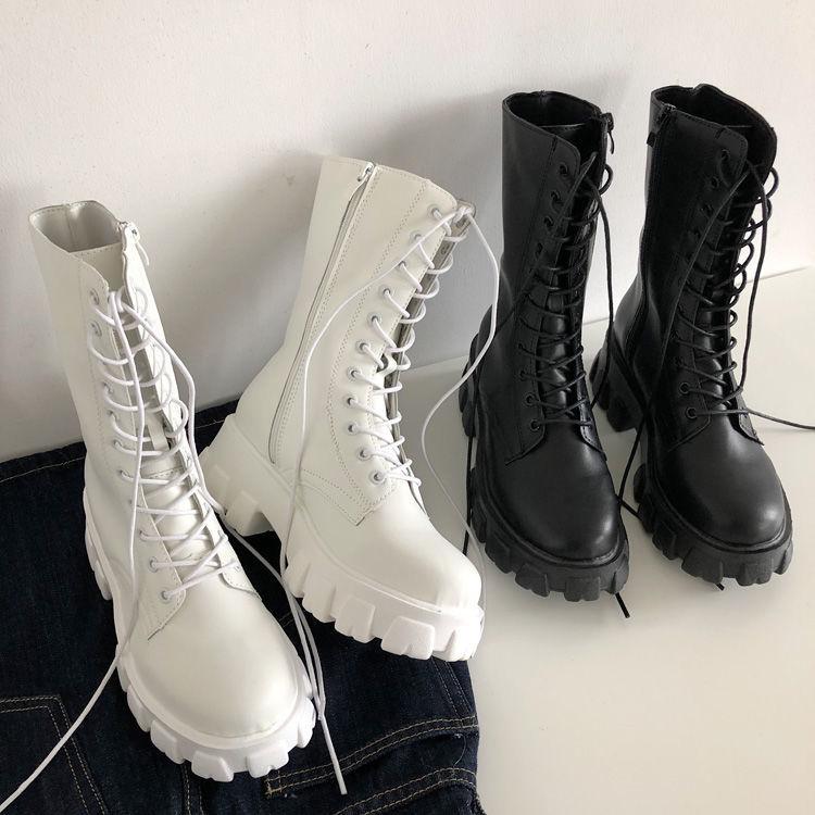 E-girl Gothic Punk Mid Calf Boots 41
