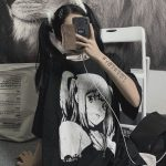 E-girl Harajuku Anime print T-Shirts Death Note Misa Amane 6