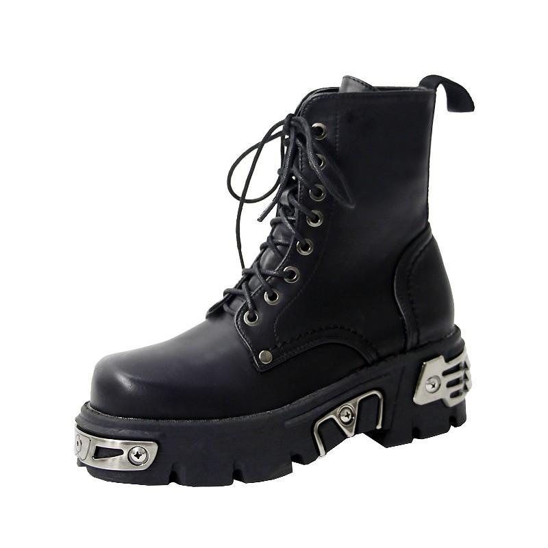 Egirl Punk Style Platform Chunky Shoes with Metal Decor 51
