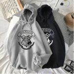 E-girl E-boy Harajuku Fan Hoodie with coat of arms of Hogwarts 1