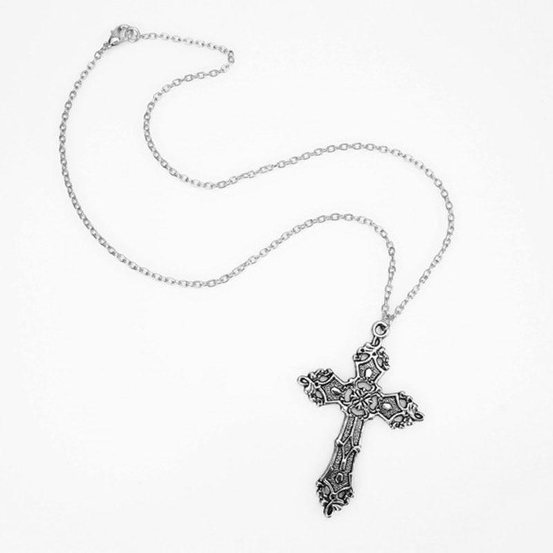 E-girl E-boy Gothic Punk Vintage Cross Pendant Necklace 44