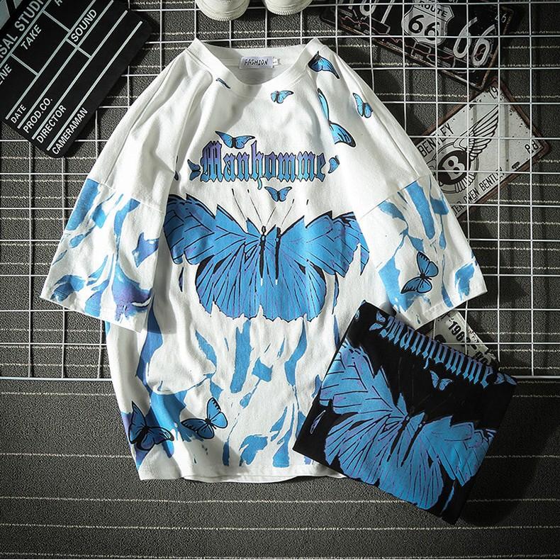 E-boy E-girl Harajuku Punk Butterfly T-Shirt 49