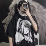E-girl Harajuku Anime print T-Shirts Death Note Misa Amane 2