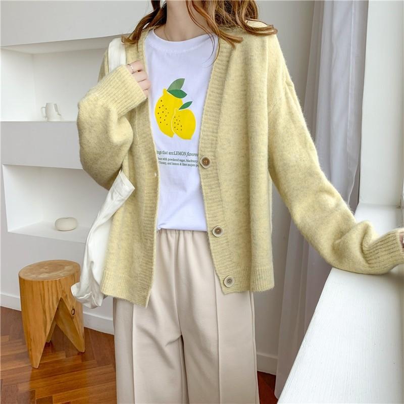 Harajuku E-girl Soft girl Kawaii Cardigan Solid Cashmere 48