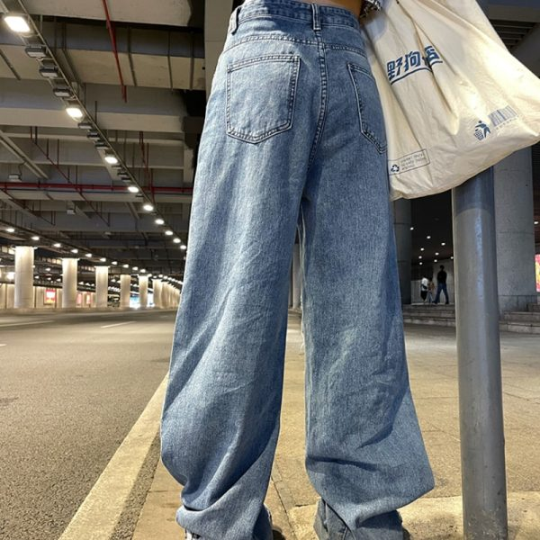 Harajuku Y2K Loose Ripped jeans with high waist 5