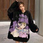 E-girl E-boy Harajuku Anime Cute Girl Oversized Hooded Sweatshirt 4