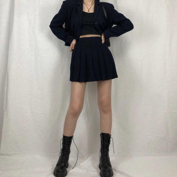 E-girl Gothic Punk Mid Calf Boots 4
