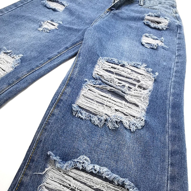 Harajuku Y2K Loose Ripped jeans with high waist 43