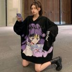 E-girl E-boy Harajuku Anime Cute Girl Oversized Hooded Sweatshirt 6